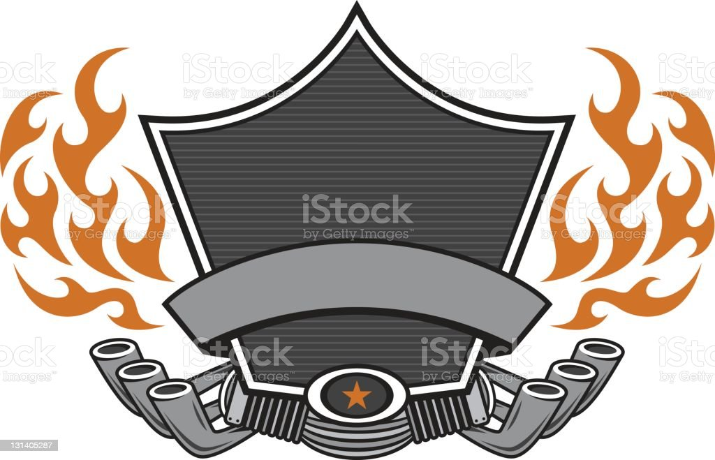 Biker-Shield – Vektorgrafik