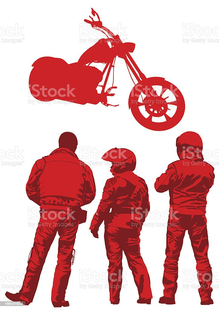 Biker suit royalty-free stock vector art