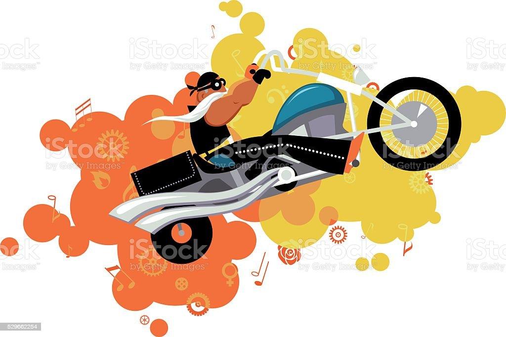 Biker vector art illustration