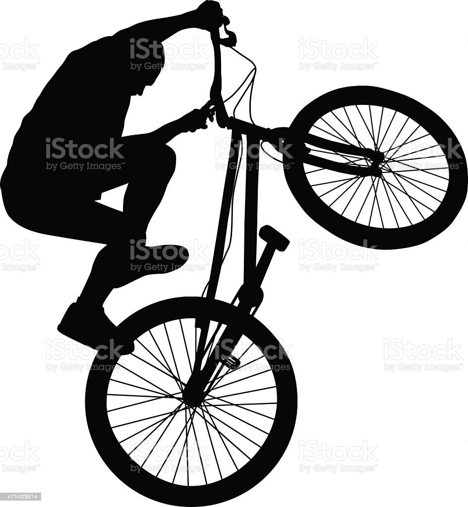 Biker vector silhouette vector art illustration