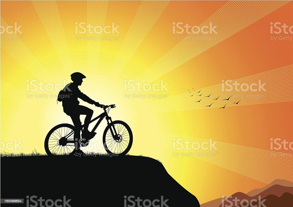 Biker's Sunset royalty-free bikers sunset stock vector art & more images of achievement