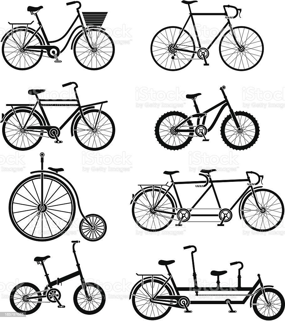 bikes vector art illustration