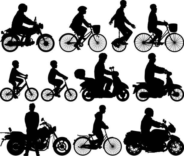 サイクリングマシン - オートバイ点のイラスト素材/クリップアート素材/マンガ素材/アイコン素材