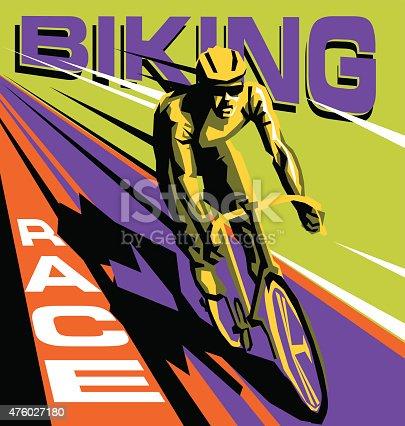 biking race vector poster