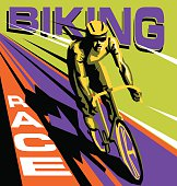 biking race vector poster