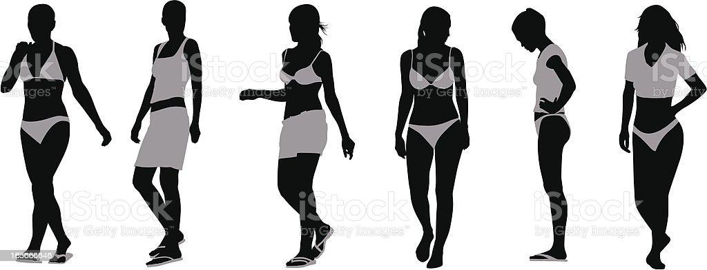 Bikini-Schönheit – Vektorgrafik