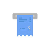 istock Bill, check, checkout, receipt, ticket two color blue and gray icon 1054985950