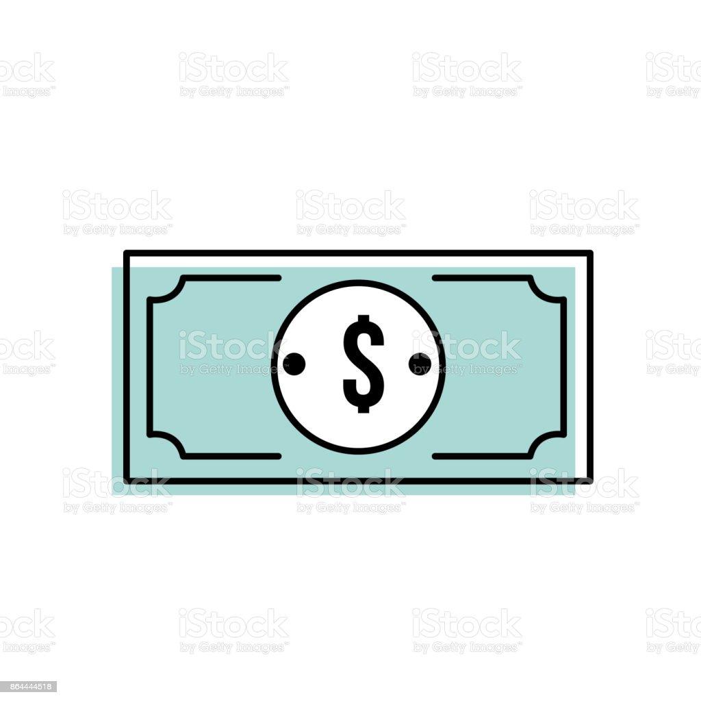 moneda de dólar cas dinero de la cuenta - ilustración de arte vectorial
