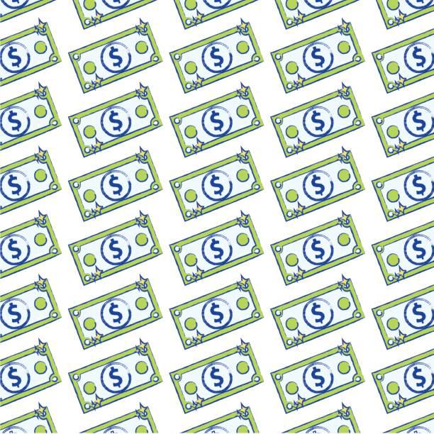 proyecto de ley dólar dinero al fondo de la economía comercial - ilustración de arte vectorial
