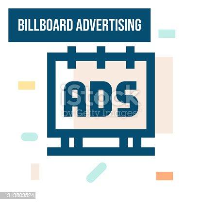 istock Billboard Advertising Icon 1313803524