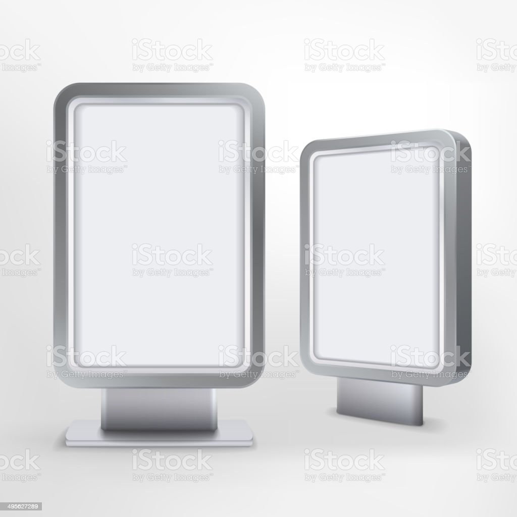 billboard and lightbox on white background royalty-free stock vector art