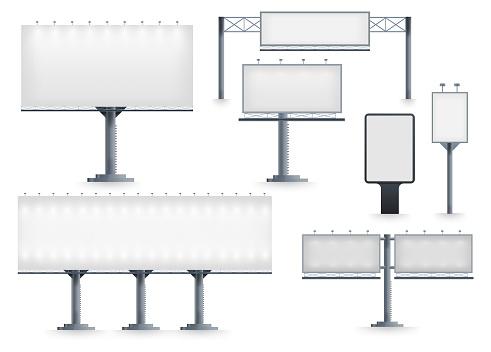 Billboard blank isolated vector template