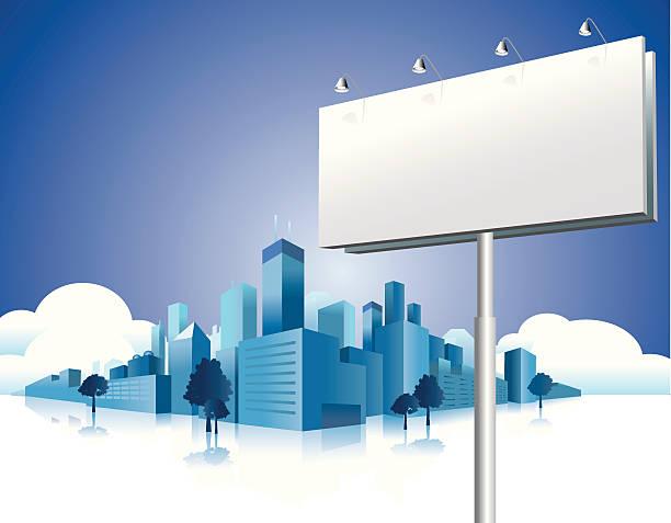 Panneau d'affichage sur la ville - Illustration vectorielle