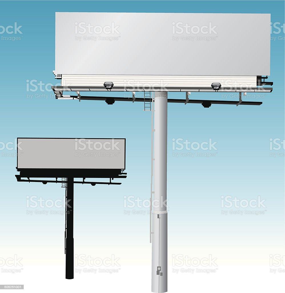 Billboard - Commercial Sign vector art illustration