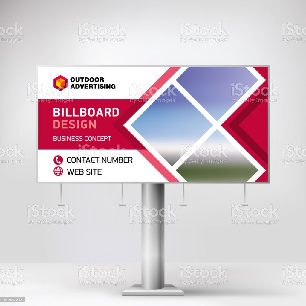 billboard design banner layout for outdoor advertising template for