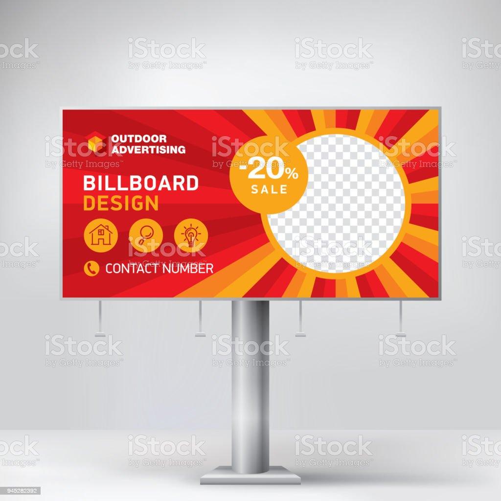 Billboard Design Template Banner For Outdoor Advertising Posting ...