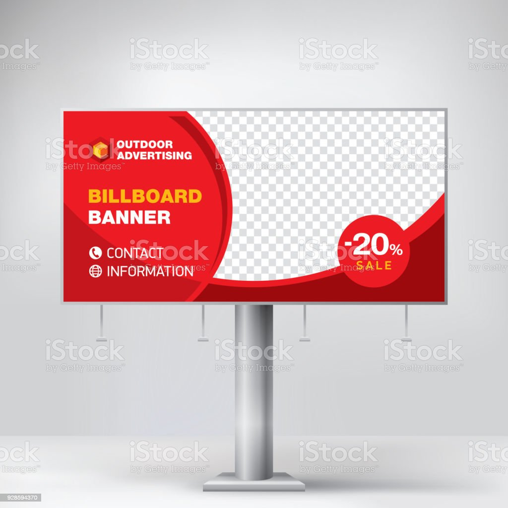 billboard design template for outdoor advertising posting photos and