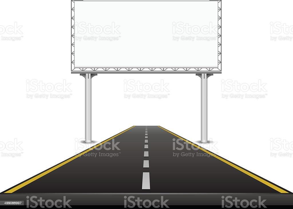 Billboard on the highway royalty-free stock vector art