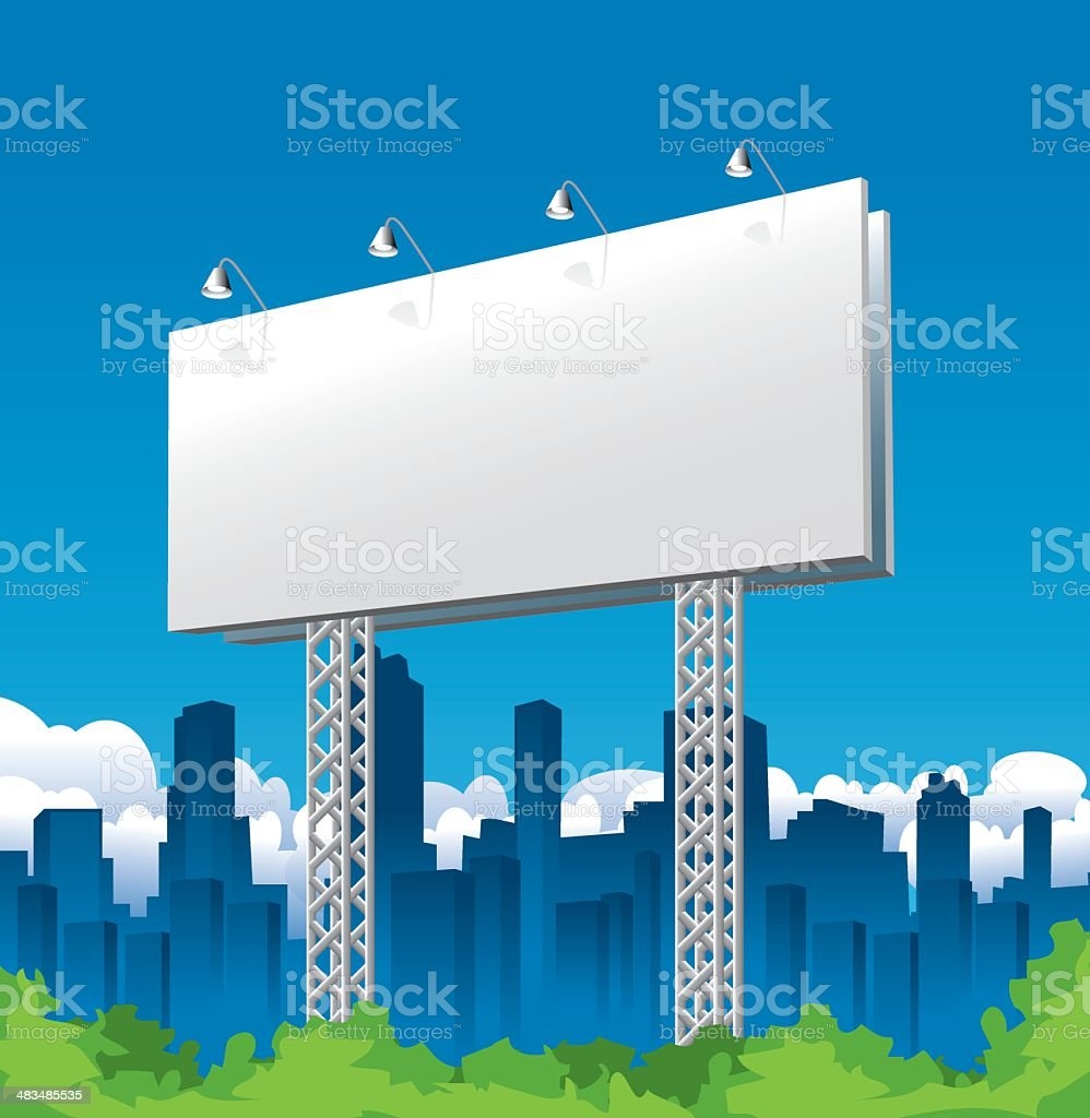 Billboard Sign and City royalty-free stock vector art