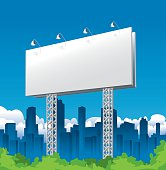 Billboard Sign and City