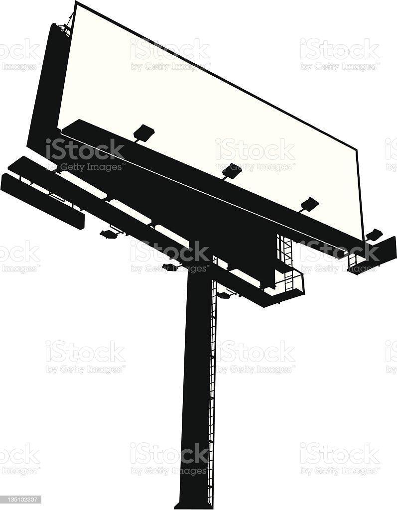 Billboard Sign royalty-free stock vector art