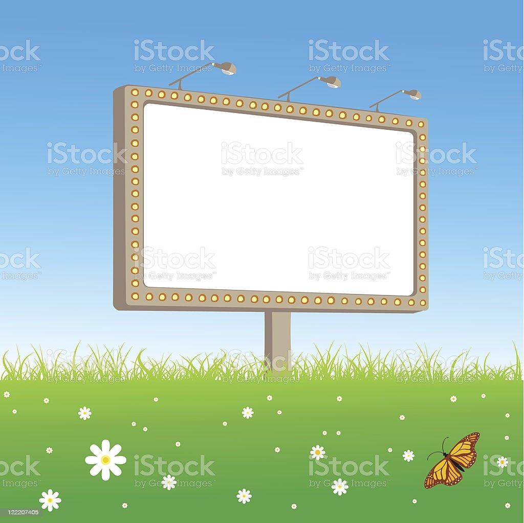 Bill-board royalty-free stock vector art