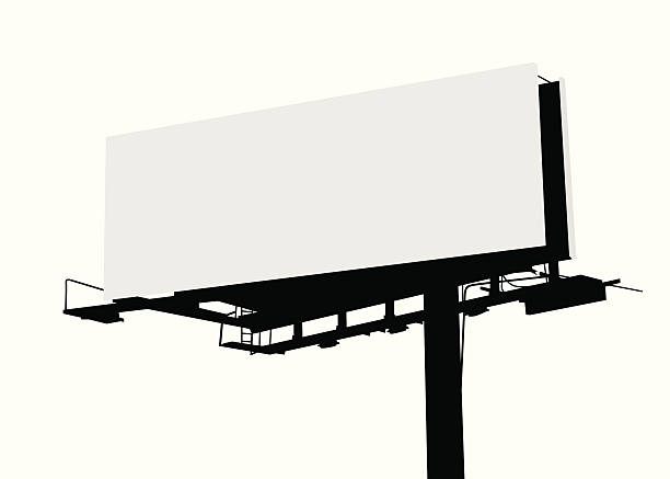 Billboard Vector Silhouette vector art illustration