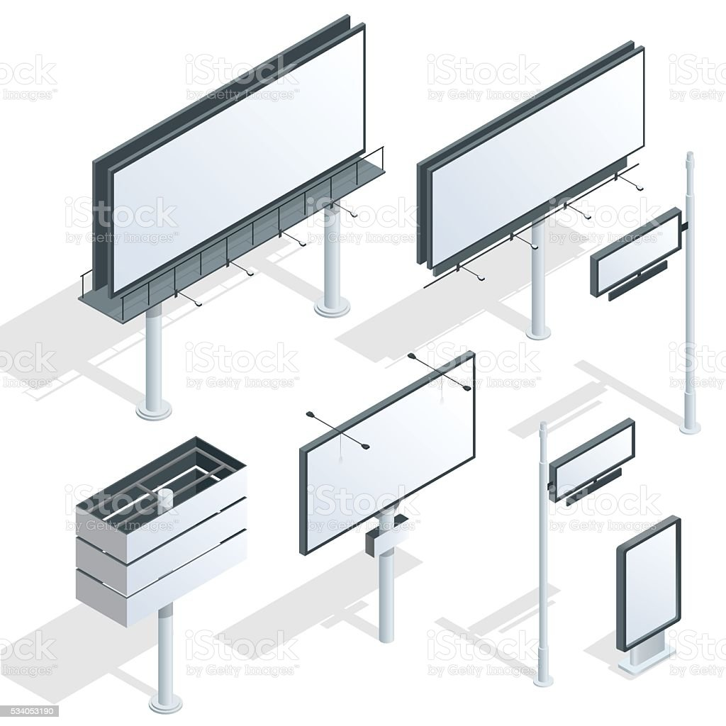 Billboards vector art illustration