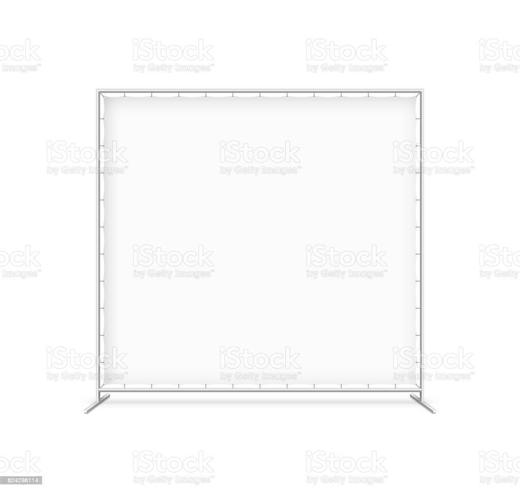 Billet press wall with blank banner vector art illustration