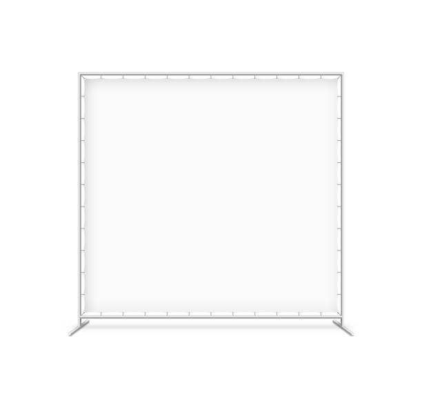 Billet press wall with blank banner vector art illustration