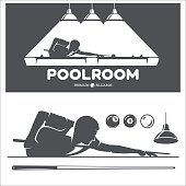 Billiard and pool vector set.