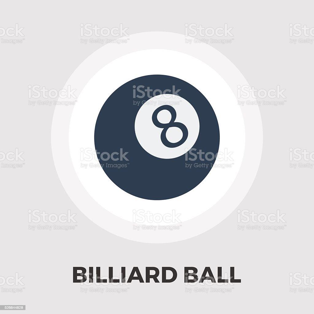 Billiard ball flat icon vector art illustration