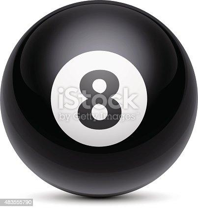 istock Billiard Ball Number Eight 483555790