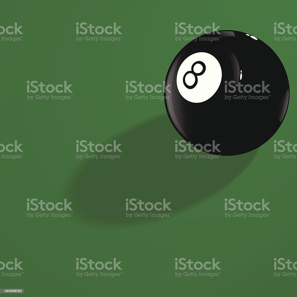 Billiard ball number eight vector art illustration