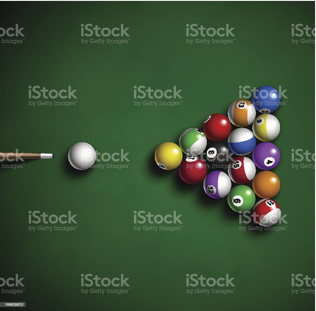 Billiard balls royalty-free stock vector art