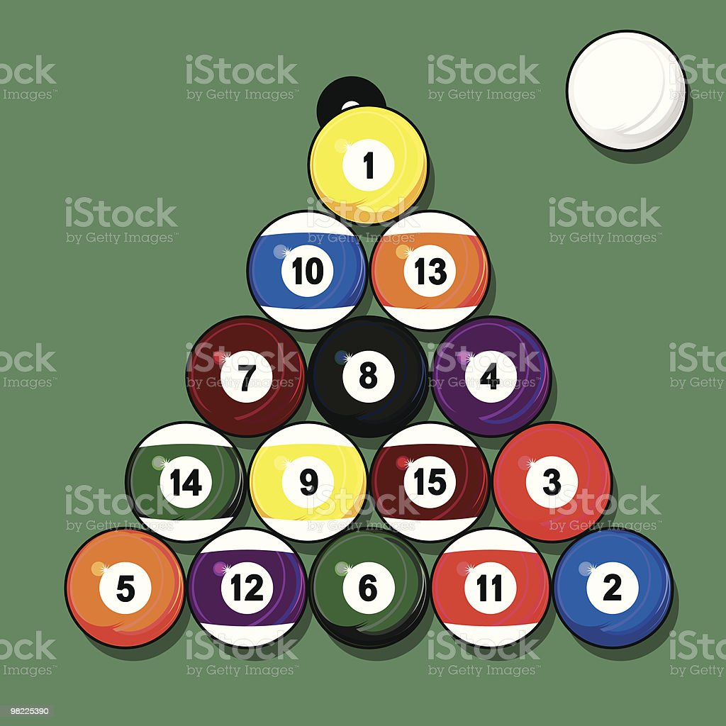 Billiard Balls Vector Art Illustration