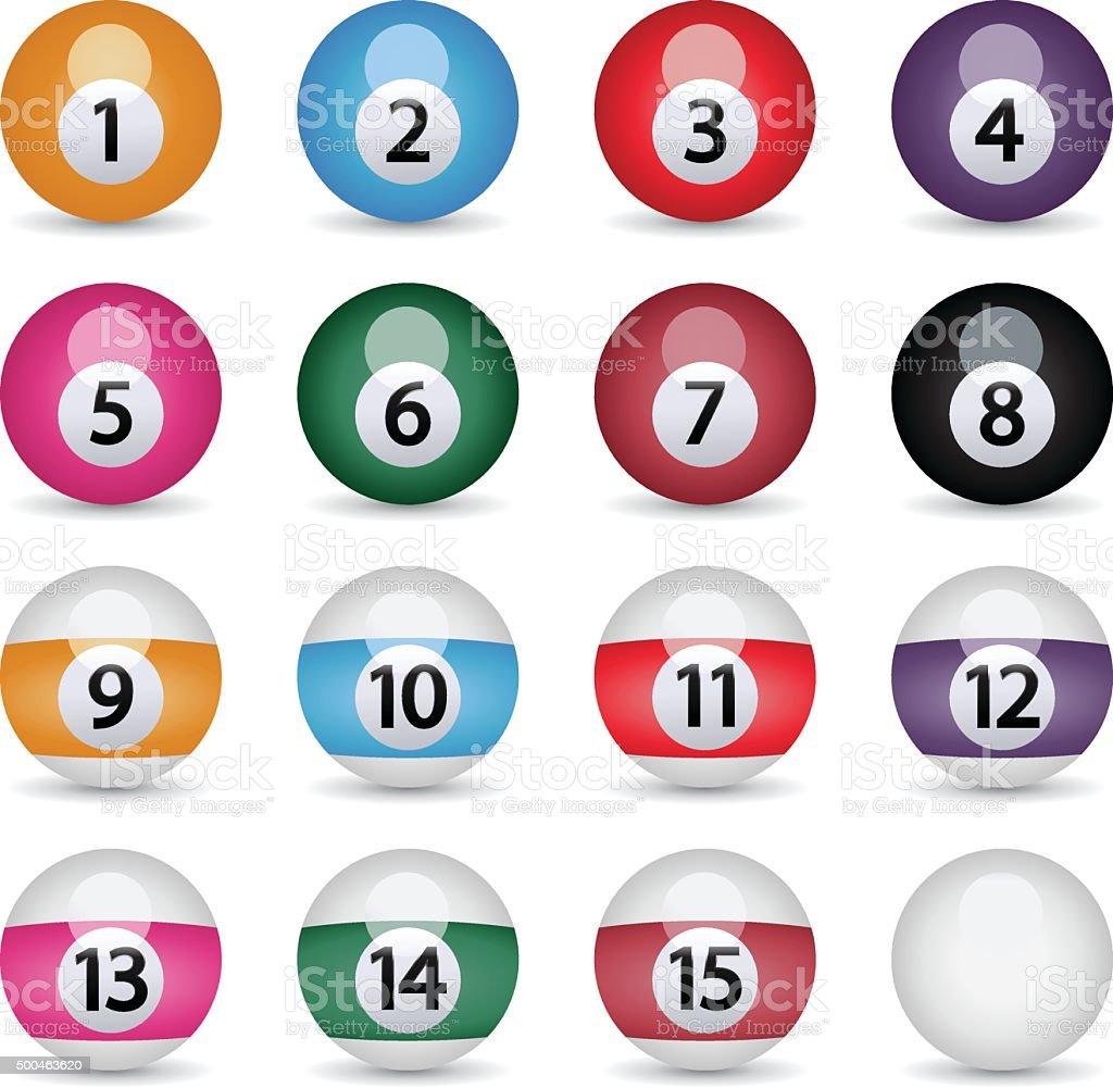 Billiard balls,vector vector art illustration