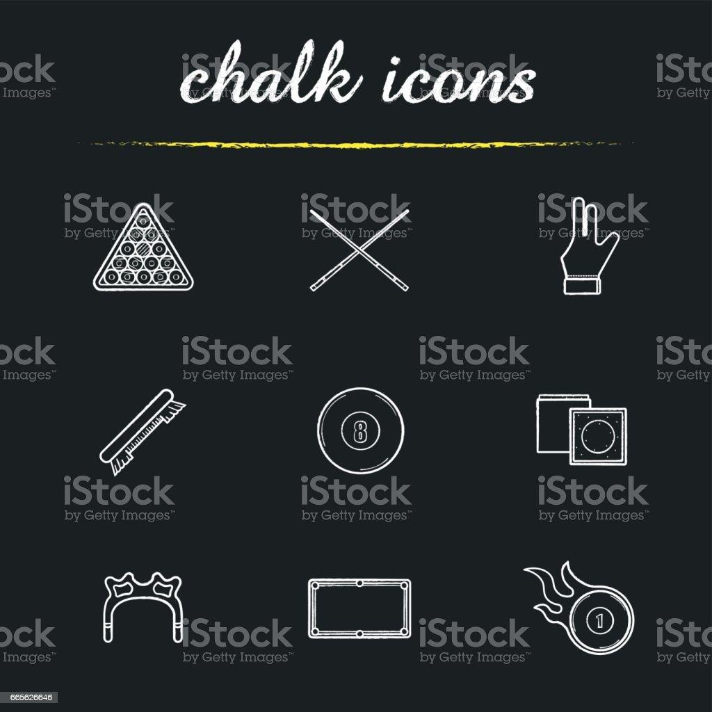 Billiard icons vector art illustration