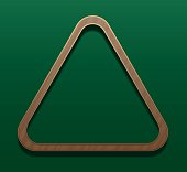Billiard Rack Wooden Triangle