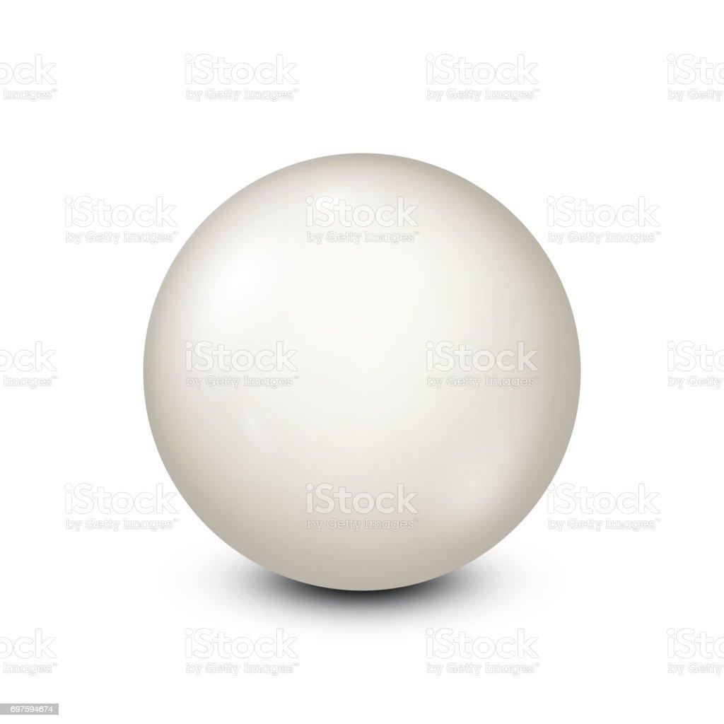 Billiard, white pool ball.Snooker. White background. Vector illustration vector art illustration