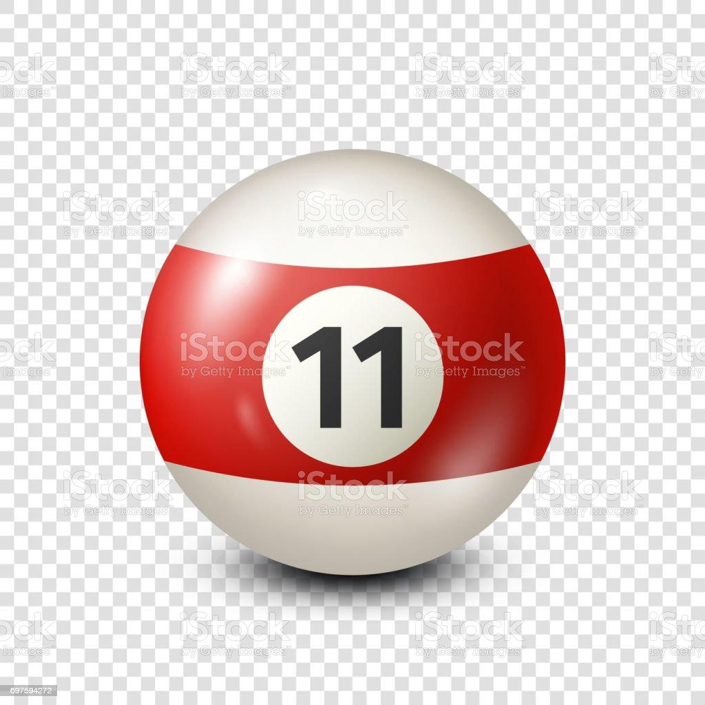 Ilustración de Bola De Pool Billar Rojo Con Número 11snooker Fondo ... eea6ab0cfdb27