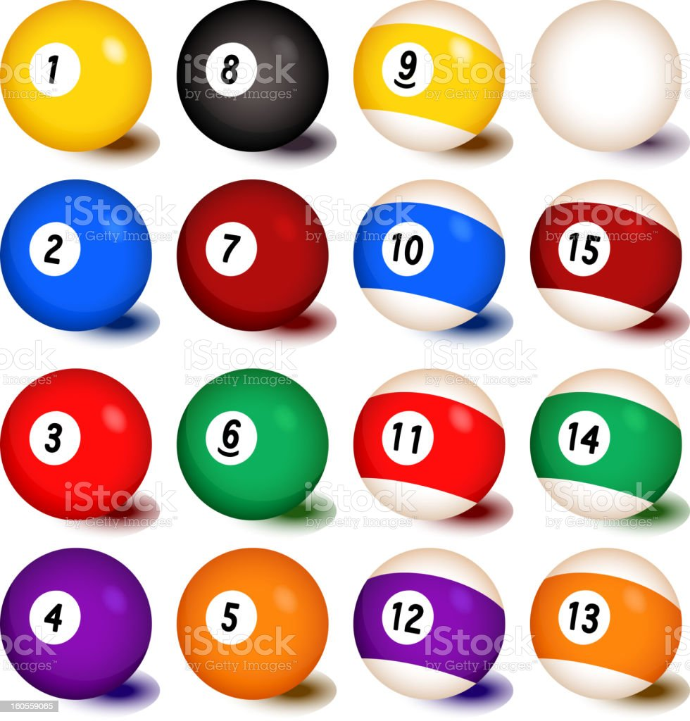 Billiards Balls Collection royalty-free billiards balls collection stock vector art & more images of black color