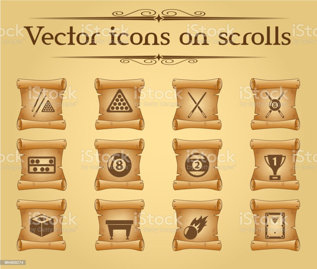 billiards icon set royalty-free billiards icon set stock vector art & more images of antique