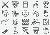 Billiards Line Icons