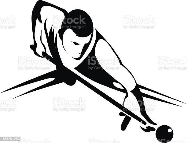 Billiards Player Stock Illustration - Download Image Now