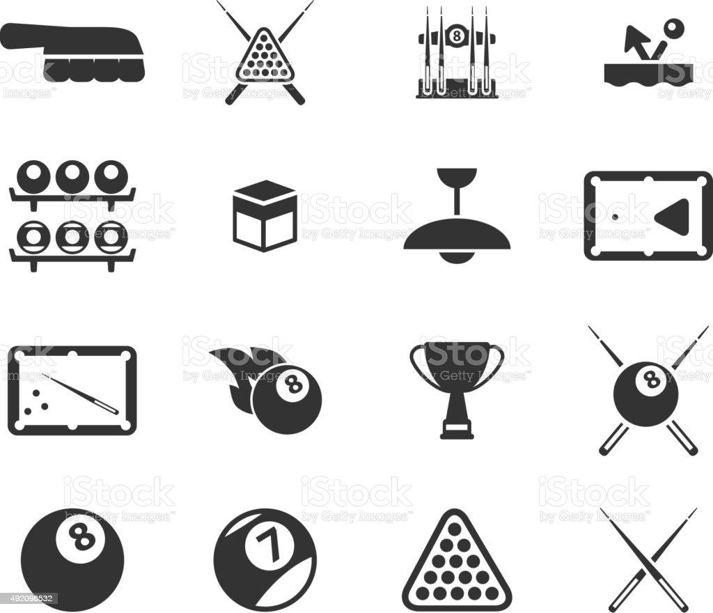 Billiards simply icons vector art illustration