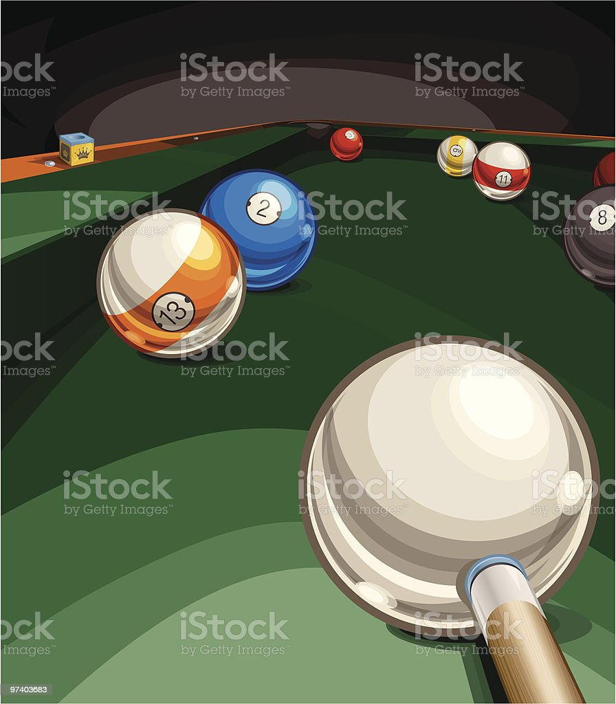 Billiards Table Vector Art Illustration