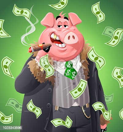 istock Billionaire Pig 1023343596