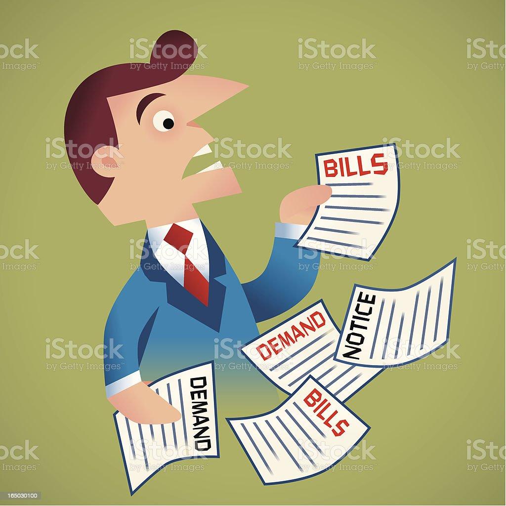 Bills royalty-free stock vector art
