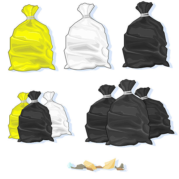 Bin Bags vector art illustration
